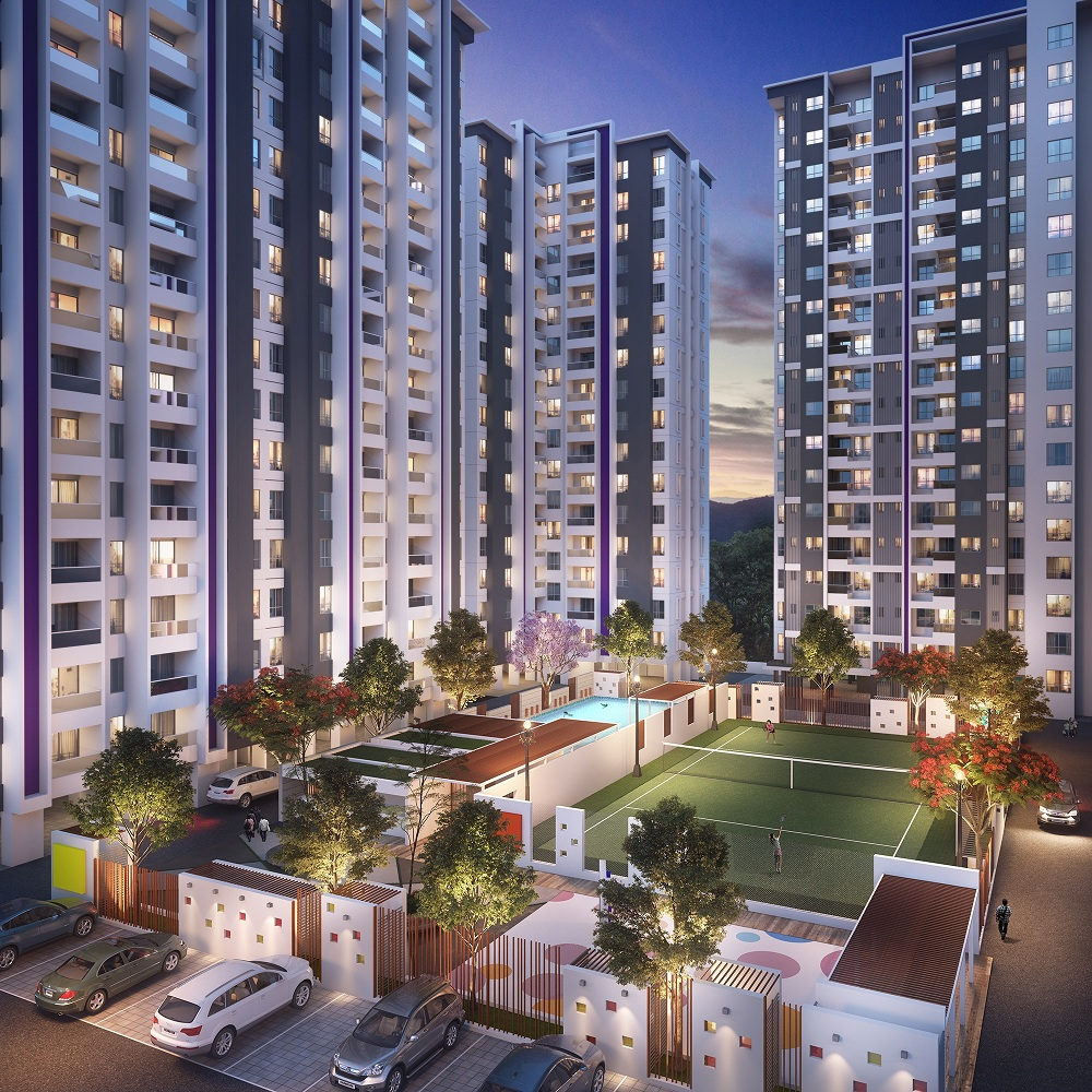 building elevation of a 1bhk in hinjewadi